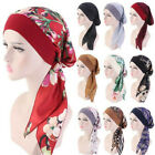 Printed Elastic Cancer Head Scarf Chemo Pirate Cap Muslim Turban Hair Loss Hat