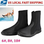 Swimming Bare Scuba Diving Snorkeling Booties 5mm Wetsuit Boots Size 6-10