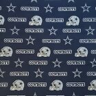 """NFL Dallas Cowboys Blue Cotton Fabric by the 1/4,1/2,Yard, 58""""W for Face Mask"""