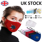 Washable Reusable Cotton Fabric Face Mask with Respirator & 2 x PM 2.5 Filters