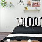 Black & White Moroccan Pom Pom Blanket Cotton sofa spread Bed throw & coverbed