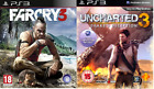 2X Playstation 3 Game FarCry 3 & Uncharted 3: Drake's Deception PS3 LOT