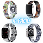 4-PACK! Camo Magnetic Steel Bands Apple Watch  Series 1 2 3 4 5 6 38/40 42/44mm