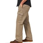 Внешний вид - Men's Wrangler Cargo Pants w/ Flex Relaxed Fit Tech Pocket Khaki ALL SIZES 34-54