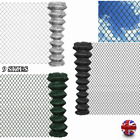 Chain Link Fence Outdoor Garden Patio Galvanised Steel Fencing Roll Multi Choice