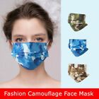 Camouflage Mouth Face Cover Breathable Disposable Three Layer Protection 10 Pcs