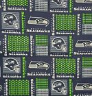 """NFL Seattle Seahawks Patch Cotton Fabric by the 1/4, 1/2, Yard, 58""""W for Mask $19.95 USD on eBay"""