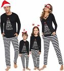 iClosam Matching Family Pajamas Set Striped Pajamas Sleepwear Dad Mom PJs