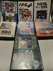Sega Genesis Sports Game Lot - 7 Games with Case and Manuals - Tested