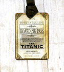 Hang Tags VINTAGE STYLE TITANIC BOARDING PASS TAGS or MAGNET 387 Gift Tags