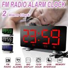 LED Digital Alarm Clock Radio Snooze Electronic USB Large Dispaly Night Light
