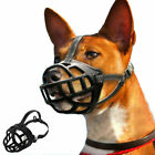 Soft Large Dog Basket Muzzle Mouth Cover Mesh Cage No Barking Biting Chewing
