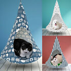Pet Cat Hanging Bed Hammock Foldable Conical Swing House Kennel Indoor Tent Cage