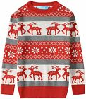 SSLR Big Boys' Reindeer Snowflake Pullover Crewneck Ugly Christmas Sweater