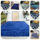 Navy Dark Blue Shaggy Rug Small Large Soft Thick Living Room Rugs Bedroom Mats