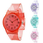 Unisex Jelly Color Round Dial Transparent Silicone Band Analog Quartz Watch Eage