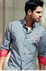 Men's L/sleeve shirt embroidery Acapulco patch Navy square by Absolute Rebellion