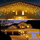 LED Icicle Lights 3M 4M 5M Connectable 8 Modes Curtain Fairy String Light Decor