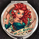 Brave Princess Merida Irish Tattoo Pinup Disney Makeup Compact Double Mirror