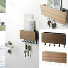 Wall Mounted Wood Key Letter Holder Storage Box Hanger Shelf Hook Home Decor UK