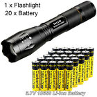 T6 LED Flashlight + 18650 Battery Li-ion 3.7V Rechargeable Batteries +Charger US