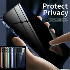 Magnetic Case For Iphone 12 Pro/max Anti Spy Privacy 360° Tempered Glass Cover