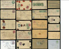 INDIA QV + KE7th COVERS STATIONERY REGIST. UPRATED POSTMARKS etc.. PRICED SINGLY