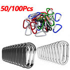 Lot 50/100 Pcs High Quality Carabiner Spring Belt Clip Key Chain Aluminum Metal
