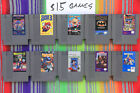 Original Nintendo NES Games Classics Lot Authentic / Cleaned / Tested