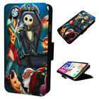 Nightmare Before Christmas - Flip Phone Case Wallet Cover Fits Iphone & Samsung