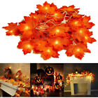 Maple Leaves Outdoor Artificial Lamp Ornaments Fairy 30/40/80 LED Light Charming