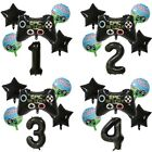 """Gamer Black 30"""" Age Number Happy Birthday 6 Helium Party Balloons Computer Games"""