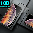 10D iPhone 11 Pro Max,XR,XS,X CURVED FULL COVER TEMPERED GLASS SCREEN Protector