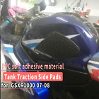 Tank Pad Protector Decal Gas Knee Grip Traction Side for SUZUKI GSXR1000 07-08