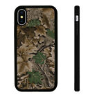 Camo Leaf Design - Silicone Phone Case Skin Cover fits iPhone SE 5 6 7 8 X 11 12
