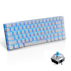 Mechanical Gaming Keyboard Wired Blue Switch LED Backlit USB Cable For PC Office