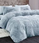 Cuddly Long Piles Hug N Snug Duvet Cover Fleece Faux Fur Quilt Cover Set Bedding
