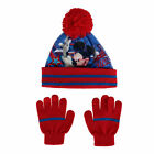 New Textiel Trade Disney Kids' Mickey Mouse Rocks 2-Piece Hat and Glove Set