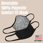 Poly Face Mask, Adult Size XL, M,  Youth Gray On Black, Reversible Comfort Nose