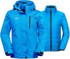 Wantdo Women's 3 in 1 Waterproof Ski Jacket Windproof Winter Snow Coat Snowboard
