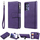 For Samsung Galaxy Note20 Ultra Zipper Leather Wallet Removable Case Card Holder