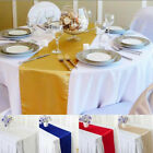 Satin Table Runner Chair Swag Christmas Wedding Party Table Decoration 12