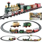 Electric Christmas Train Tracks Set With Lights & Sound Kids Toy Gift Tree Decor