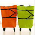 Foldable Trolley Bag Folding Shopping Bag Cart With Wheels Portable Luggage