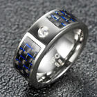 Smart Ring Wear Magic Blue Carbon Fiber Tech For Nfc Android Window Mobile Phone