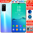 S20 Plus 7.7In Android10.0 Cheap Cell Phone Factory Unlocked Smartphone Dual SIM
