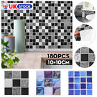 180pcs Kitchen Tile Stickers Bathroom Mosaic Diy Wall Self-adhesive Home Decor