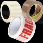 BROWN / CLEAR / FRAGILE LONG LENGTH PACKING TAPE STRONG PARCEL BUFF CELLOTAPE