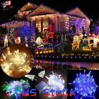 US 10M 100 LED Waterproof Icicle String Lights Outdoor Christmas Festival Decor