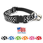 "Kitty Kaboodle USA Made Designer Zig Zag Breakaway Cat Kitten Pet Collar (7-11"")"